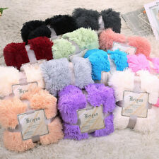 14 Colors Faux Fur Blanket Soft Warm Fluffy Bed Sofa Throw Large Long Shaggy