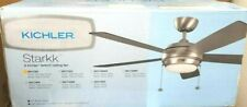 Kichler Lighting 330171NI Starkk Indoor Ceiling Fan Brushed Nickel