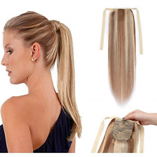 Thicker100%  Real Human Hair Extension Drawsting Ponytail 100g 16inch-22inch