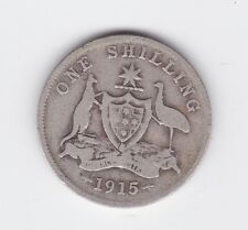 1915 Sterling Silver Shilling Coin King George V1 Australia W-888