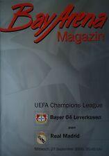 Programm UEFA CL 2000/01 Bayer Leverkusen - Real Madrid