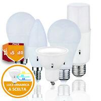 LAMPADINE LED BULBO E14 E27 GU10 SMART CAMBIA COLORE A SCELTA LUCE LAMPADINA
