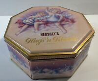 "Hershey's Hugs'n Kisses Collectible Candy Tin 7 "" Wide 3"" Tall"