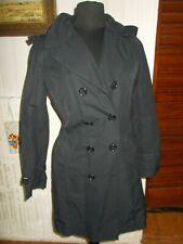 Veste manteau imperméable noir  CERRUTI 1881 34F 36D 40it ceinture