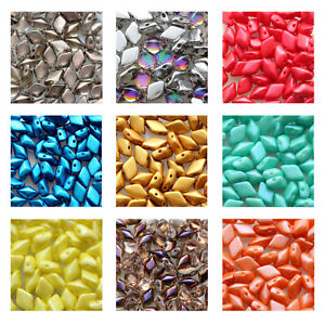 Matubo Gemduo™ Pressed Beads Czech Glass 8x5mm Size 8g Tube More Colors
