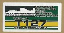 MONOPOST 1/20 T127 Early version 2010 Proportion kit