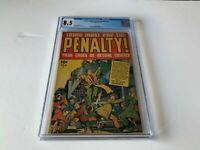 CRIME MUST PAY THE PENALTY 2 CGC 8.5 EXTREME VIOLENCE PRE CODE CRIME ACE COMICS
