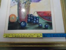 fruit painting  5/200 signed by lee white vintage art