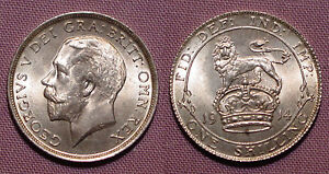 1914 KING GEORGE V SHILLING - UNCIRCULATED With Full Lustre