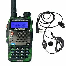 Baofeng UV-5RA Green Dual Band UHF/VHF Two Way FM Radio + UV-5R A Earpiece US