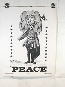Vintage Poster Protest Anti War Art 1967 Peace Political Happening Press Weege