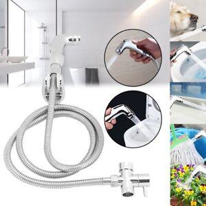 Hand Held Shower Head Douche Toilet Bidet Spray Wash Jet Shattaf Diverter Kit UK