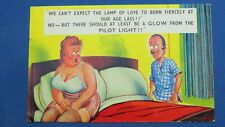 Risque Bamforth Comic Postcard 1960s Large Boobs Corset Girdle Nylons Stockings