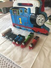 Vintage Thomas The Train Tank Engine 7 Pcs And Carrying Case 1987 1990 1993