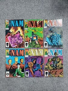 1987 Copper Age The 'Nam Marvel Comic Book Lot (6) #3 4 6 9 10 11