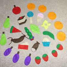 SALE-The Very Hungry Caterpillar mini felt story pack - story telling sack, EYFS