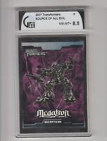 207 Transformer Source of all Evil Trading Card Graded GAI 8.5