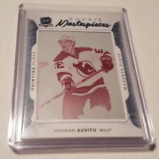2016-17 UD THE CUP HOCKEY ROOKIE MASTERPIECES PRINTING PLATES JOHANN AUVITU RC