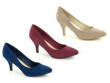 Zapatos de tacón de mujer de color principal multicolor de ante