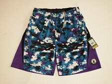 Small Digi Camo Mesh Athletic Shorts Purple Flow Society