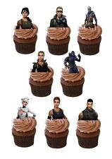 27 PRECUT FORTNITE GAME STAND UP EDIBLE CUPCAKE TOPPER FAIRY CAKE TOPPERS PS4