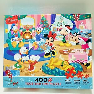 Ceaco Disney Holiday Together Time 400 Piece Jigsaw Puzzle Baking Mickey Minnie