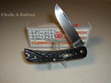 "CASE XX KNIFE- SOD BUSTER JR.- ROUGH BLACK HANDLES #18229 - 3 5/8"" CLOSED LENGTH"