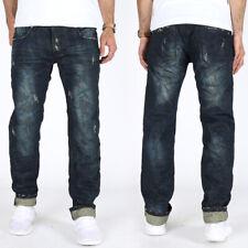 Justing Herren Designer Regular Slim Straight Fit Jeans | Camouflage Look 03079V