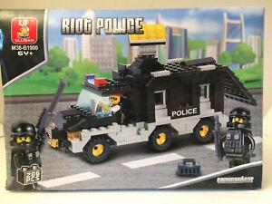 Sluban Riot Police Van construction play set with mini figures                P3