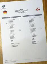 Germany - Northern Ireland teamsheet Euro 2020 Qualifiers 19/11/19