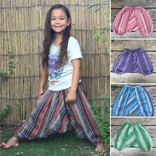 Girls boys stripey harem pants baggy summer hippy boho trousers 1,2,3,4,5,6,7yrs