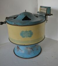 Vtg 1930's Sunny Suzy Child's Green Cream Washing Machine Tin Toy