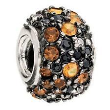 Chamilia Authentic Jeweled Kaleidoscope Orange & Black Charm #JC-6E