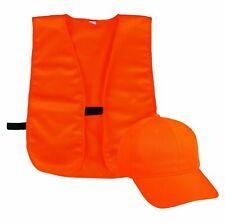 Outdoor Cap Vest and Cap Combo Blaze Orange Youth