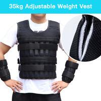 35KG Weight Vest Weighted Adjustable Training Loading Boxing Jacket Men Crossfit