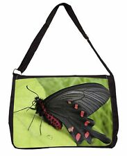 Black and Red Butterflies Large Black Laptop Shoulder Bag School/Colleg, IBU-3SB