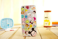 Cute Cartoon Crystal Clear Soft Phone Case Cover for iPhone 4S 5S 6 6S 6SPlus