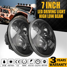 2pcs 7INCH 200W H4 CREE LED Projector Headlight Hi-Lo Beam For Wrangler Defender