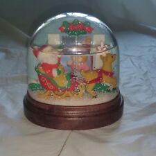 Vintage 1988 Avon Vision of Christmas Light Up Snow Globe