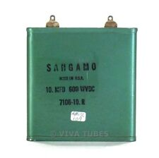 Vintage Sangamo 7106-10.R 10 Mfd 600 Wvdc Paper in Oil Capacitor