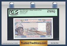 Tt Pk 108Al 1984 West African States 5000 Francs Pcgs 67 Ppq Superb Gem New