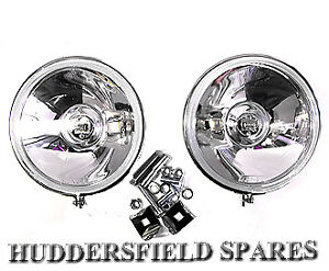 """Stainless steel 5"""" Spot lights pair off for classic Mini, New with brackets"""