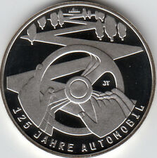 10 Euro Gedenkmünze 125 Jahre Automobil 2011 Polierte Platte Silber 625/-