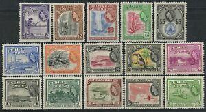 sa4747 British Guiana - Sc#253-67 Hinged with Remnants
