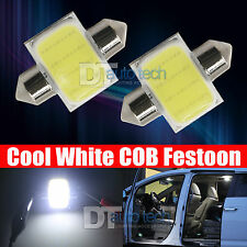 2X 6000K White COB LED Map/Dome Interior Lights Bulbs 31MM Festoon