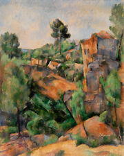 Bibémus Quarry by Paul Cézanne 60cm x 48cm Art Paper Print