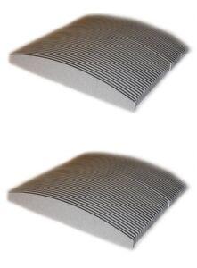 100 X Lime Mezza Luna Bilaterale Grana 100/180 Per Ricostruzione Unghie Nail Art
