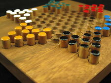 6 Inch Wooden Chinese Checkers Travel Set Board Game