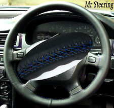 FOR 97-06 LAND ROVER FREELANDER ITALIAN LEATHER STEERING WHEEL COVER BLUE STITCH