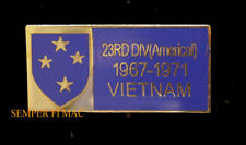23RD AMERICAL INFANTRY DIVISION US ARMY ID HAT PIN WW2 VIETNAM Norman Schwarzkop